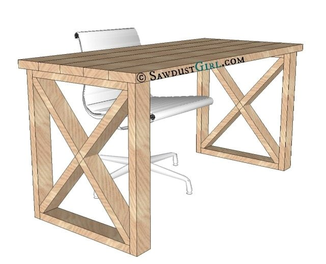 home office desk plans free