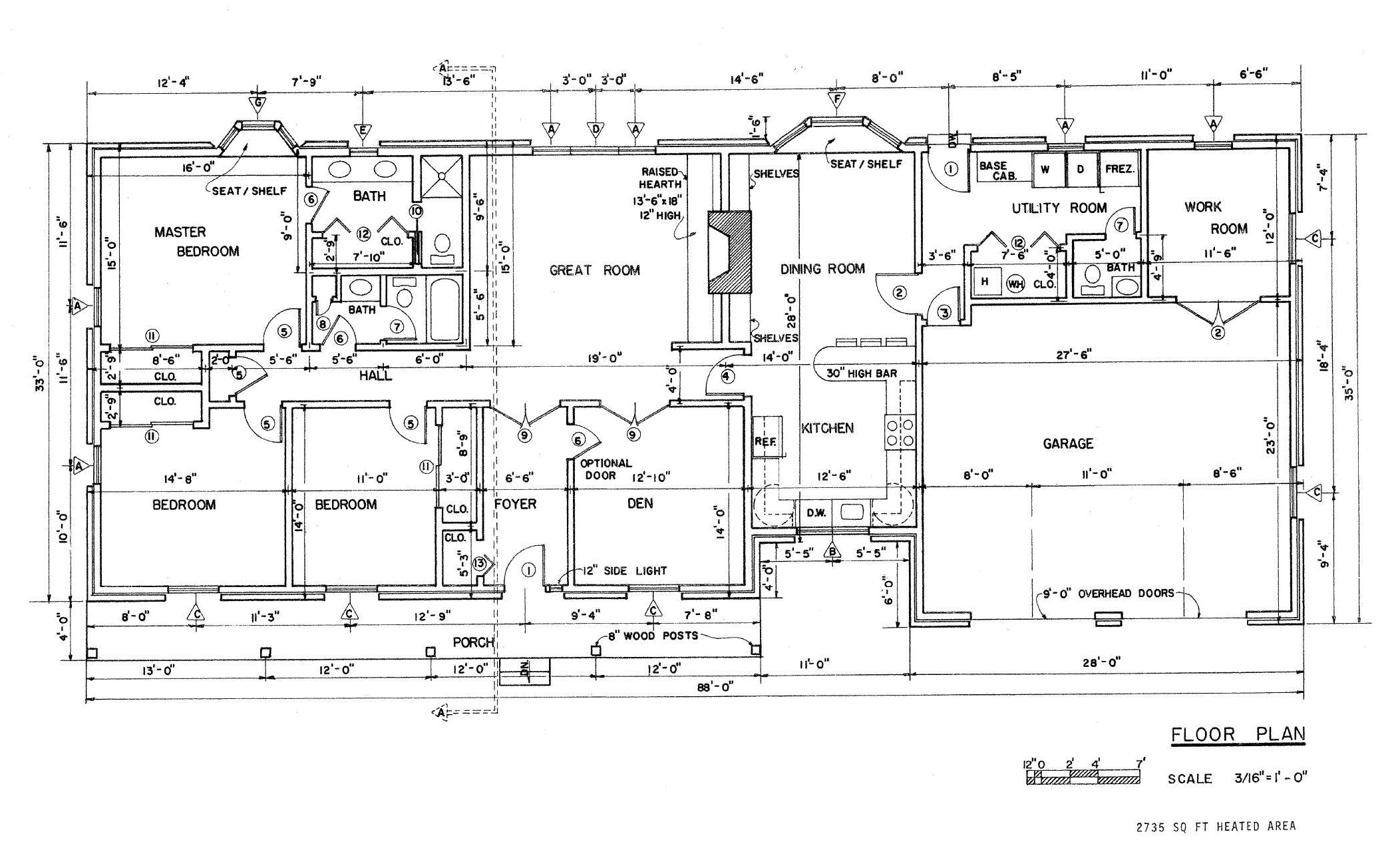 house plans with pictures and this country ranch house floor plan o