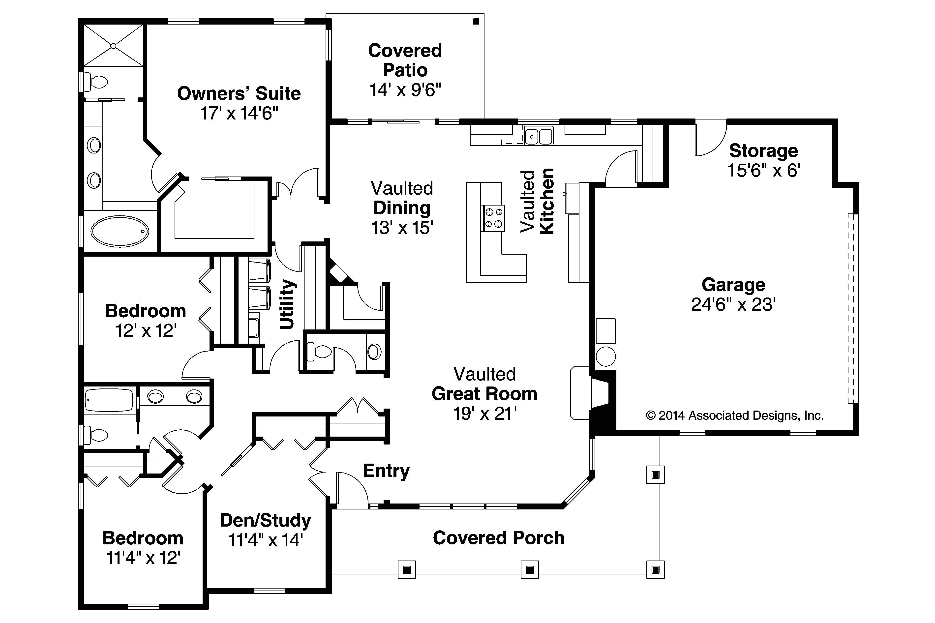 Home Floor Plan Ranch House Plans Brightheart 10 610 associated Designs