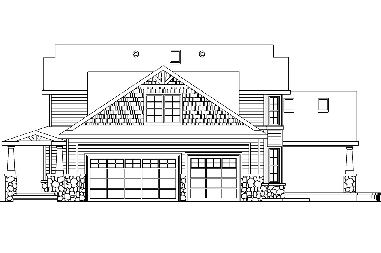 Home Plan and Elevation Craftsman House Plans Tillamook 30 519 associated Designs
