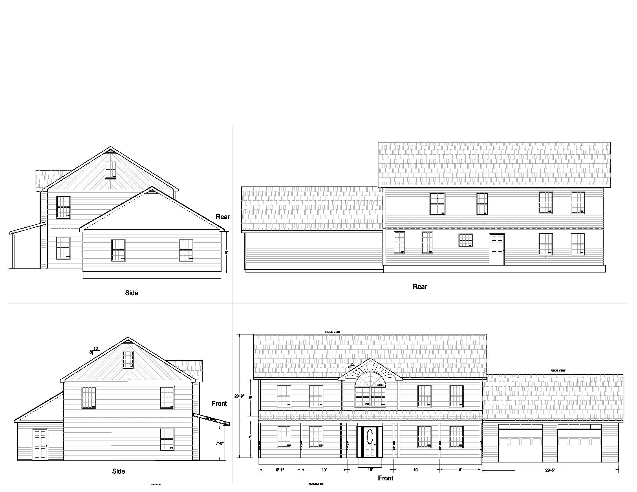 Home Plan and Elevation Elevations the New Architect
