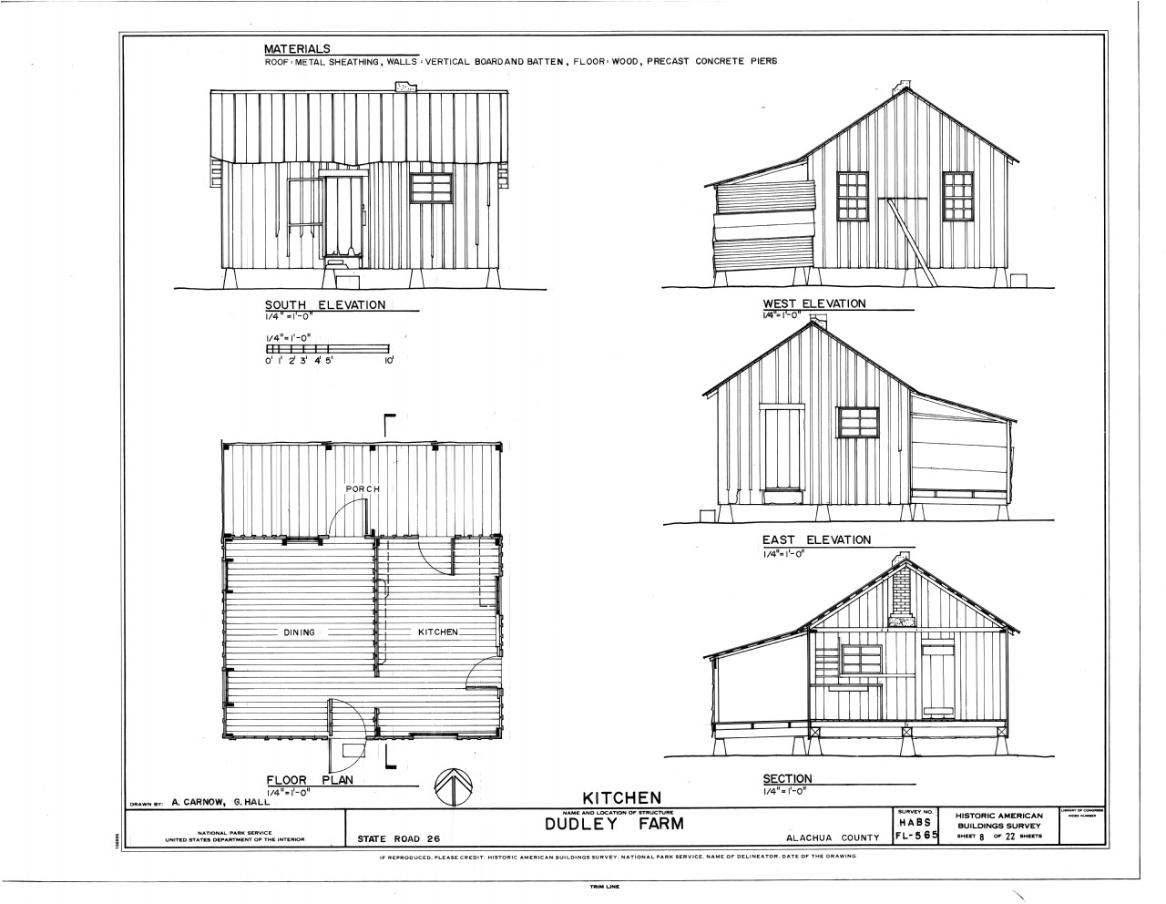Home Plan and Elevation File Kitchen Elevations Floor Plan and Section Dudley