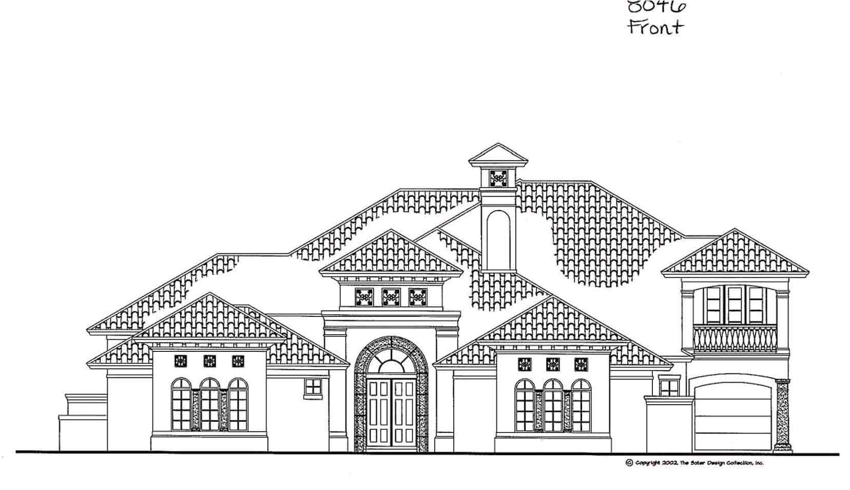 Home Plan and Elevation House Elevation Plans Floor Home Building Plans 60405