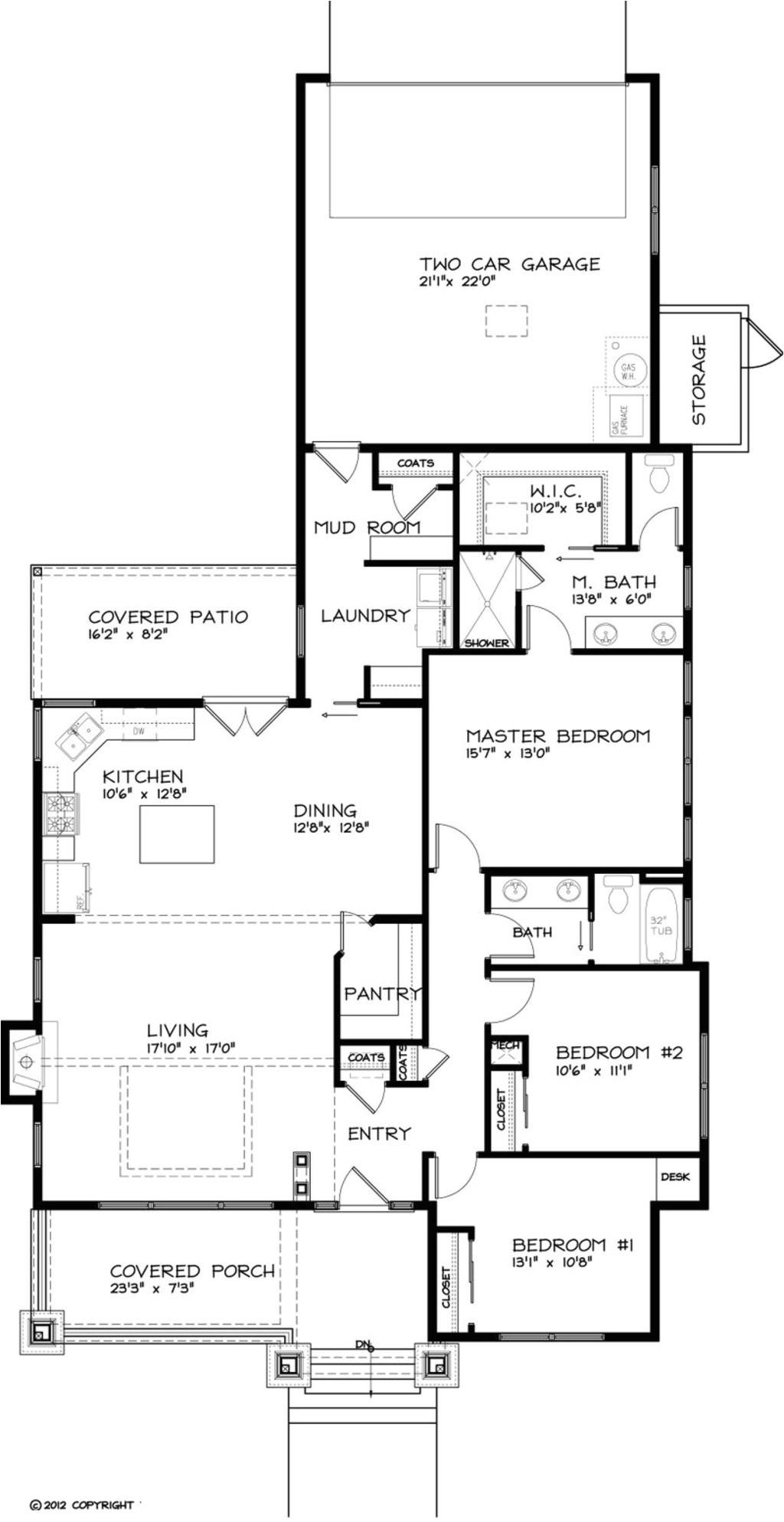 1749 square feet 3 bedrooms 2 bathroom bungalow house plans 2 garage 37159