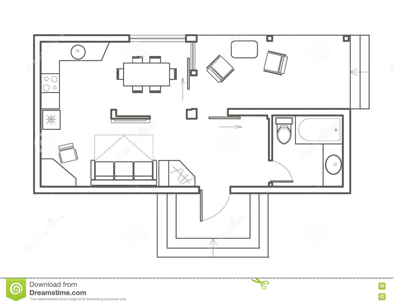 architectural sketch house plan