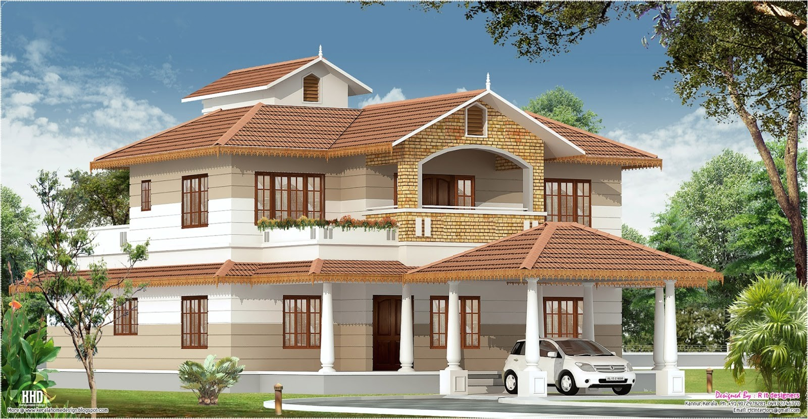 Home Plans Design Kerala 2700 Sq Feet Kerala Home with Interior Designs Kerala