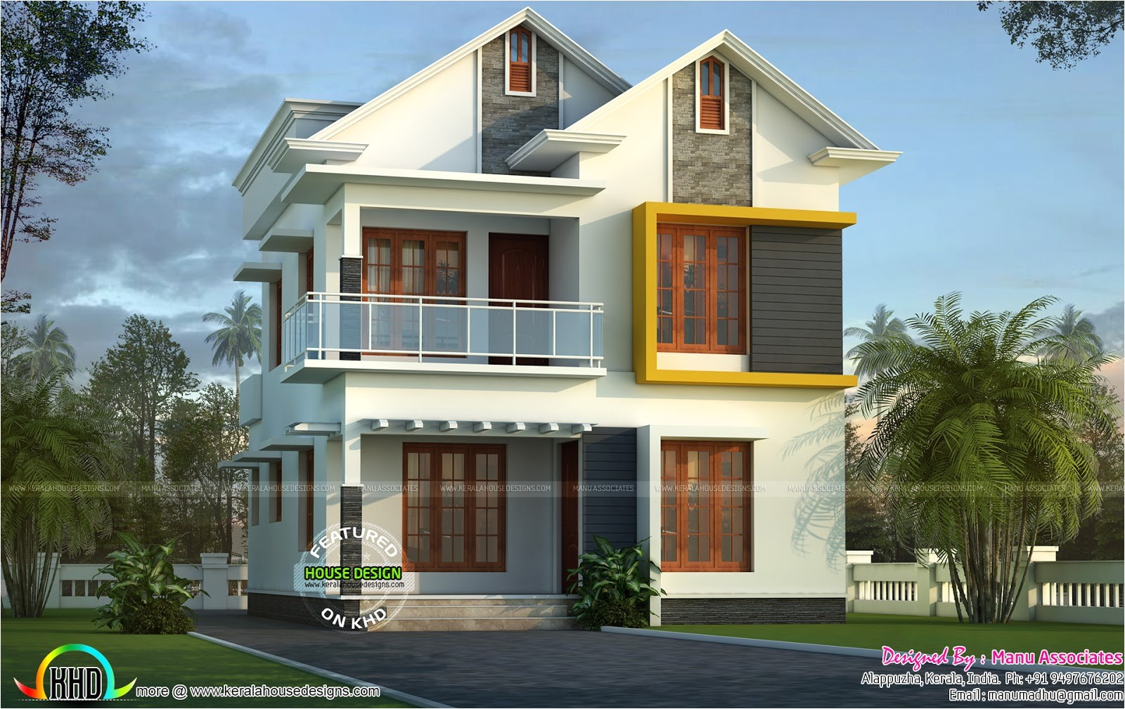 cute small kerala home design