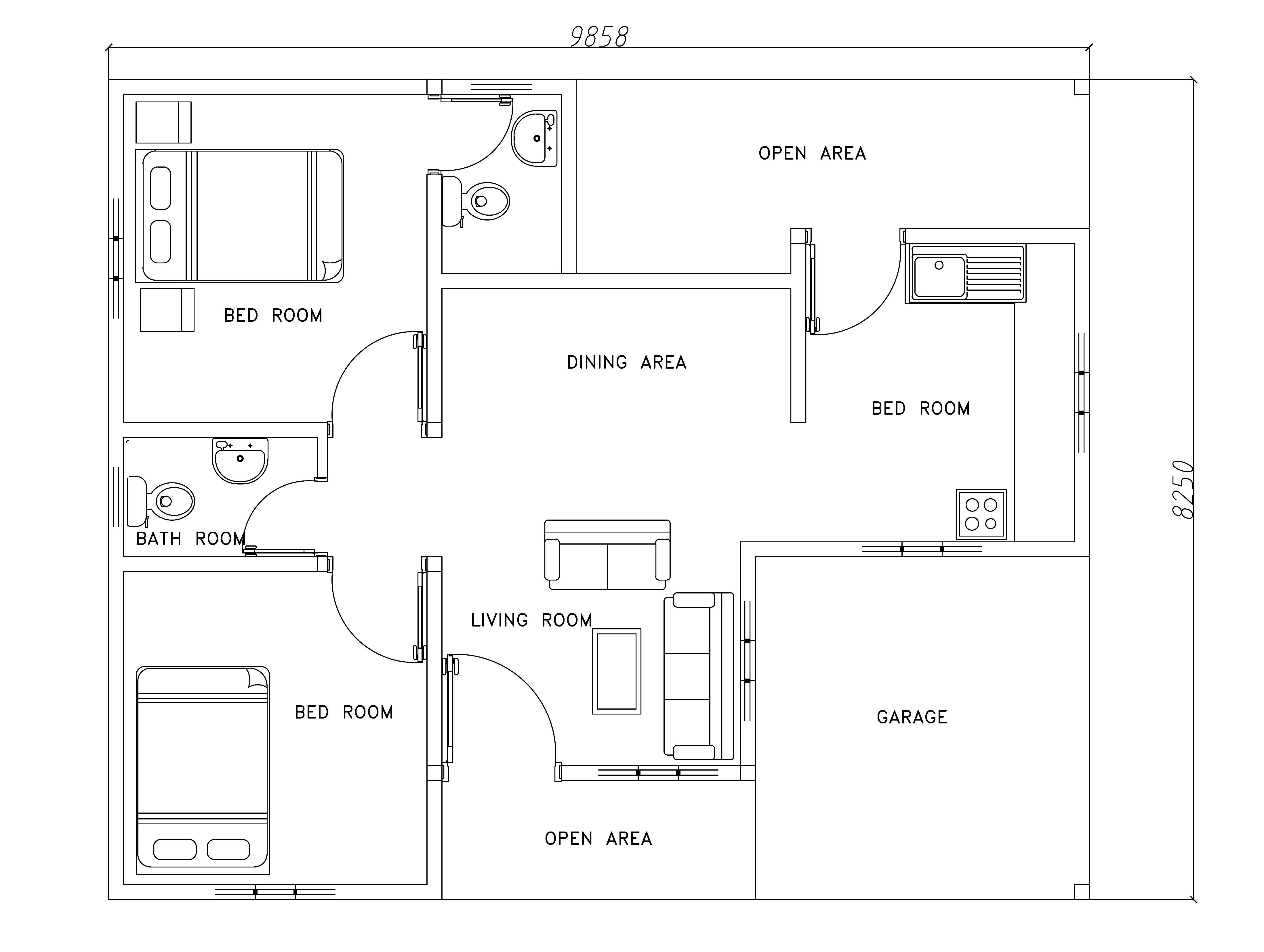 modern house plans dwg free
