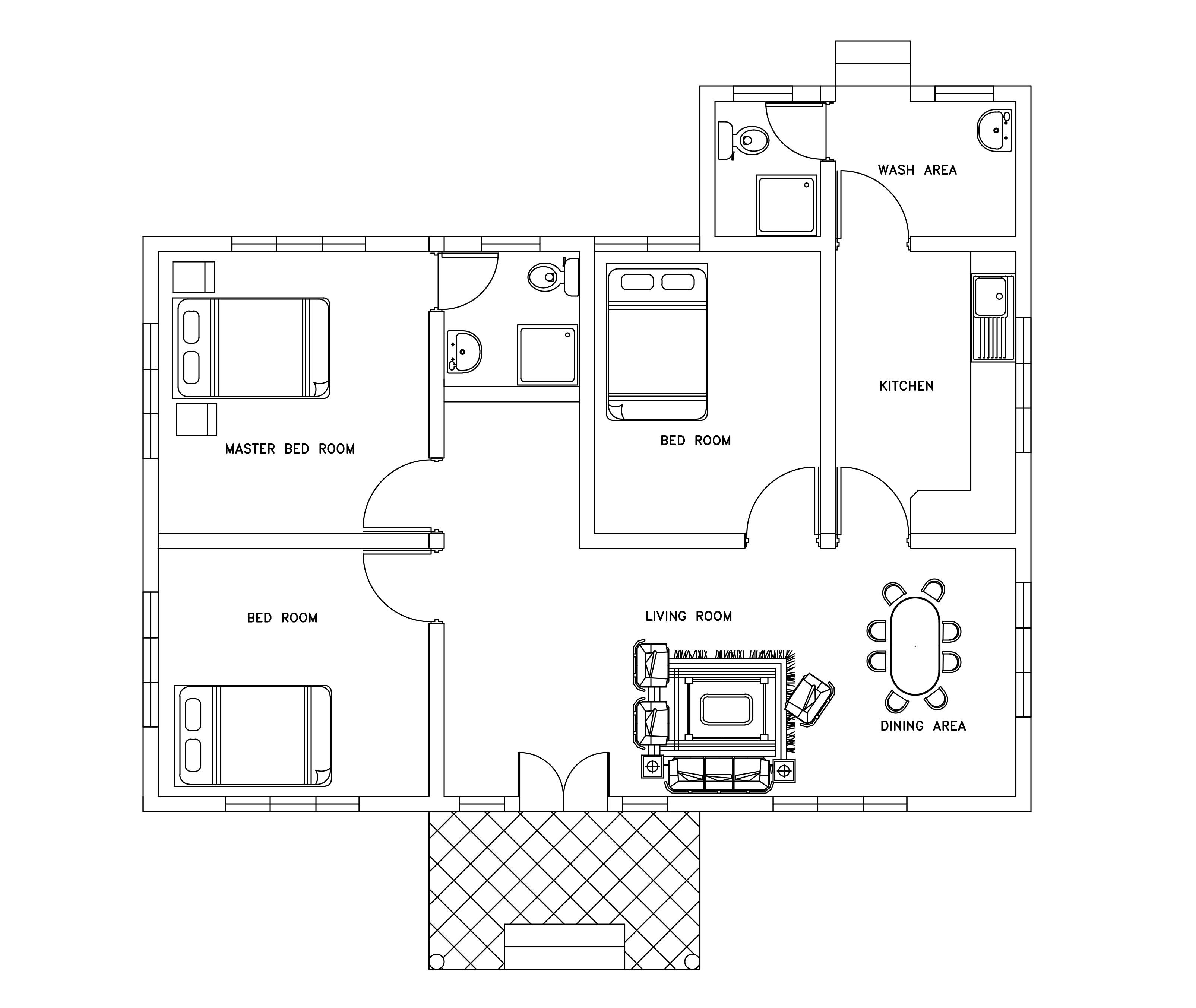 Home Plans Dwg Download Free Cad File Floor Plan