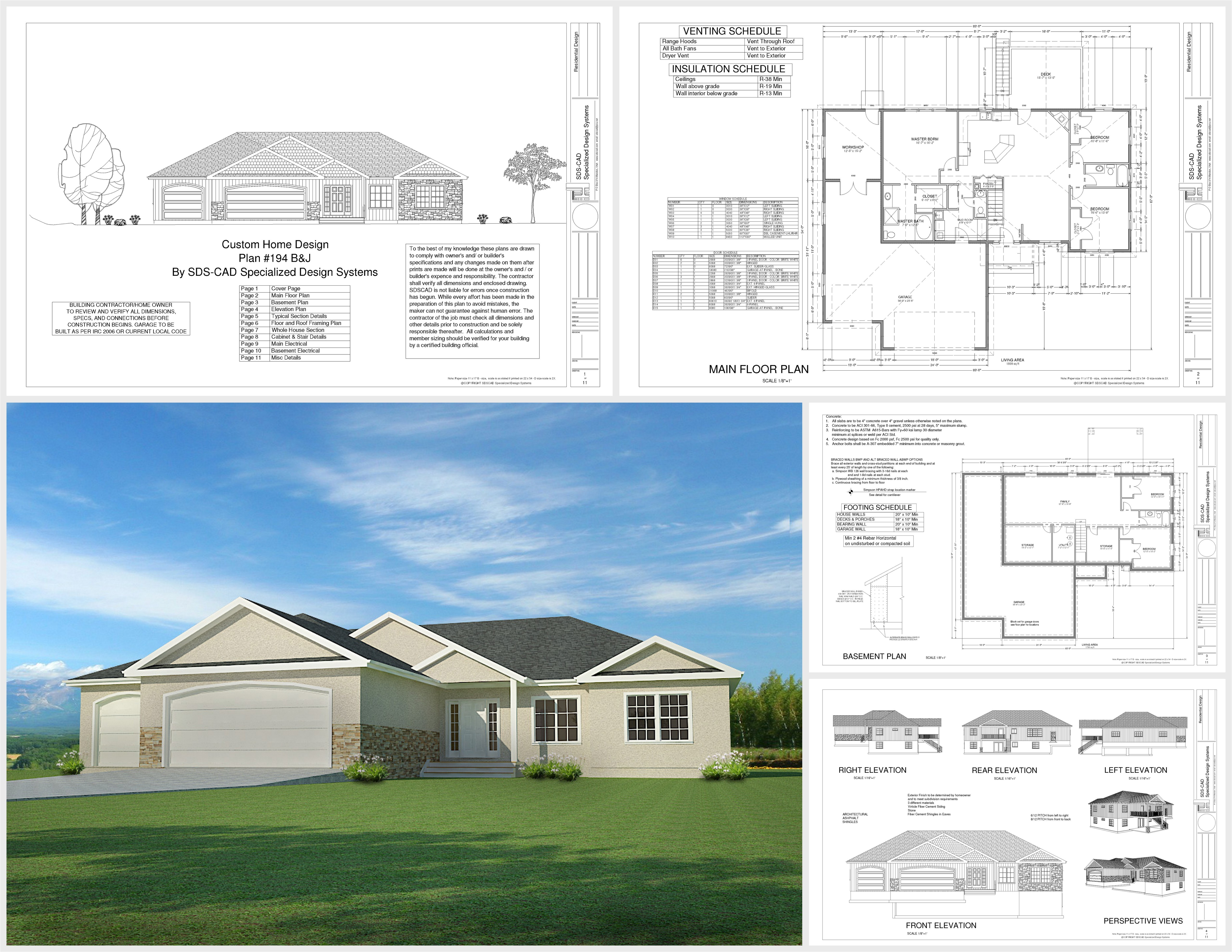 download this weeks free house plan h194 1668 sq ft 3 bdm 2 bath