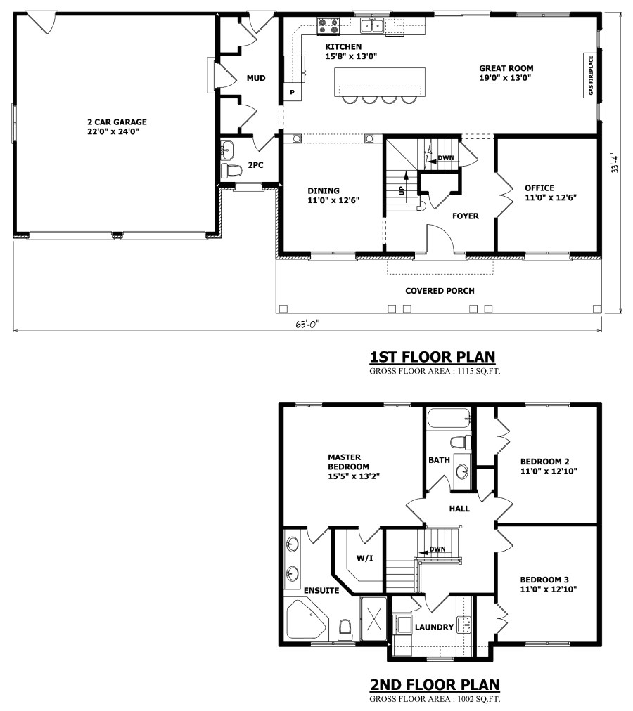 custom home floor plans ontario