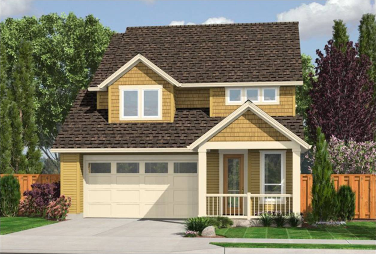 house plan with garage below