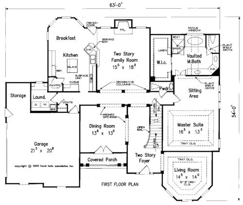 first floor master bedroom home plans