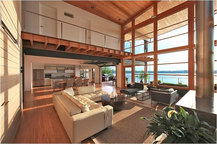 green house overlooking the chesapeake bay designed by gardner mohr architects