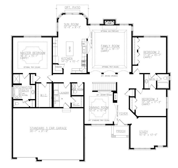 ranch house plans with jack and jill bathroom