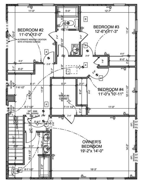 house floor plans jack and jill bathroom