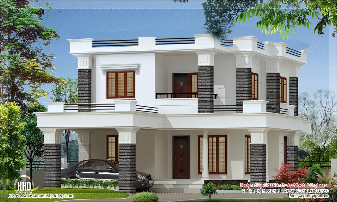 Home Plans with Modern House Design Flat Roof Modern House