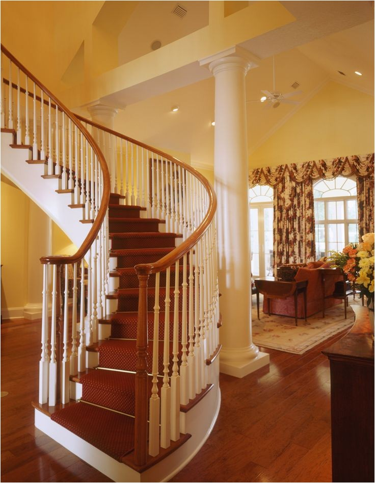 home plans with splendid staircases