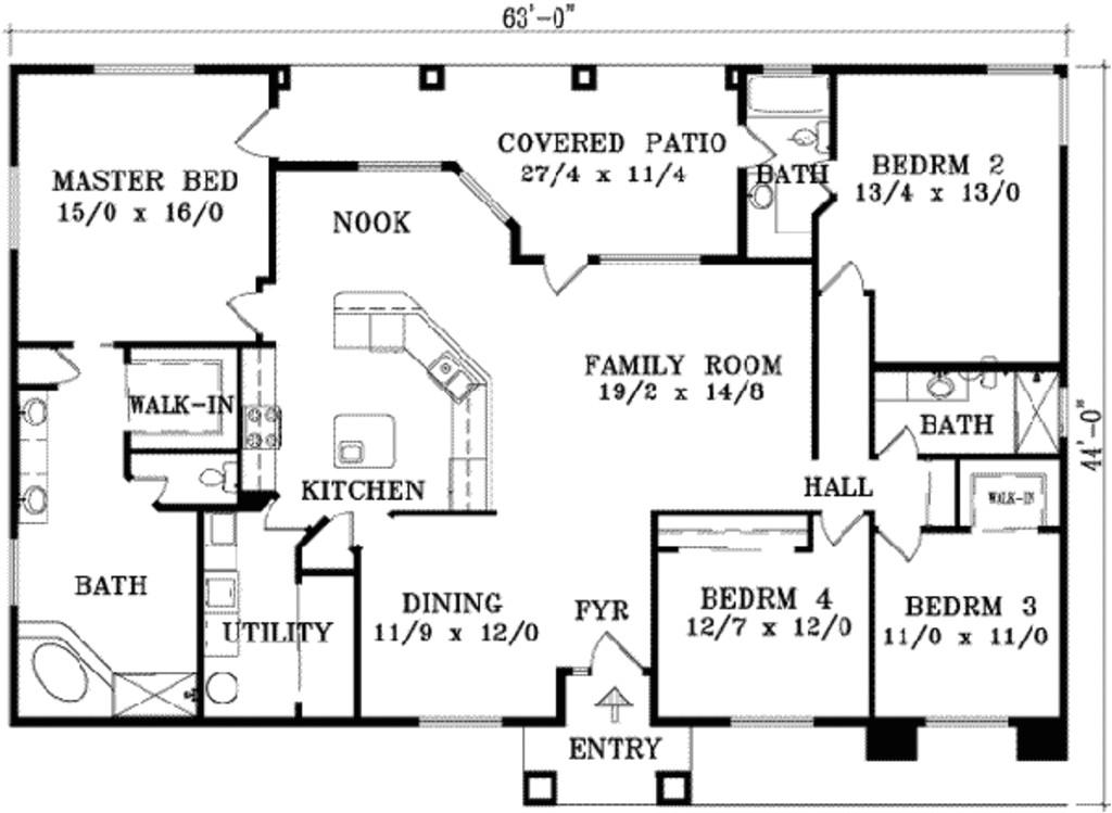 2129 square feet 4 bedrooms 3 bathroom southwest contemporary plans 0 garage 16794