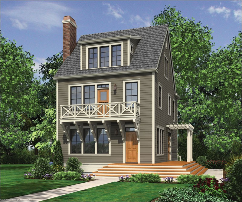 Home Plans without Garage Narrow House Plans without Garage Cottage House Plans