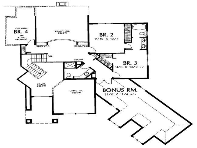 ranch house plan no garage