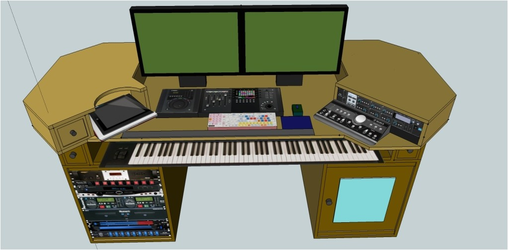 home studio desk plans