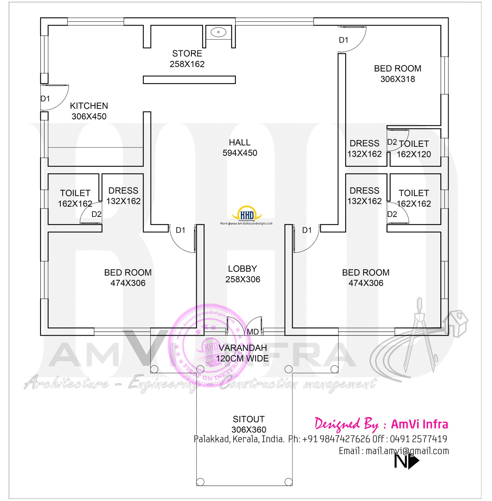 1600 square feet house with floor plan