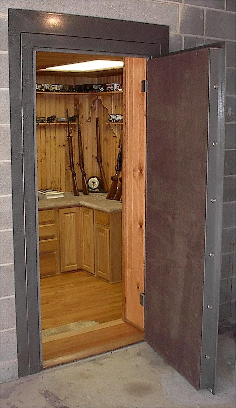 collins vault door secure gun room