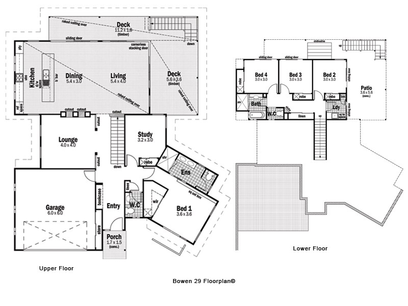 the floor plan of the bowen 29
