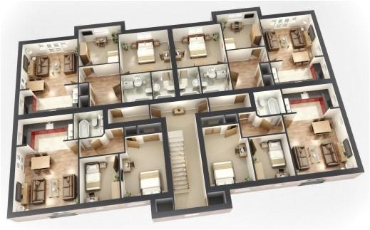 House Design Plans 3d 4 Bedrooms Inspiring Image Result for Sims 3 House Blueprints 4