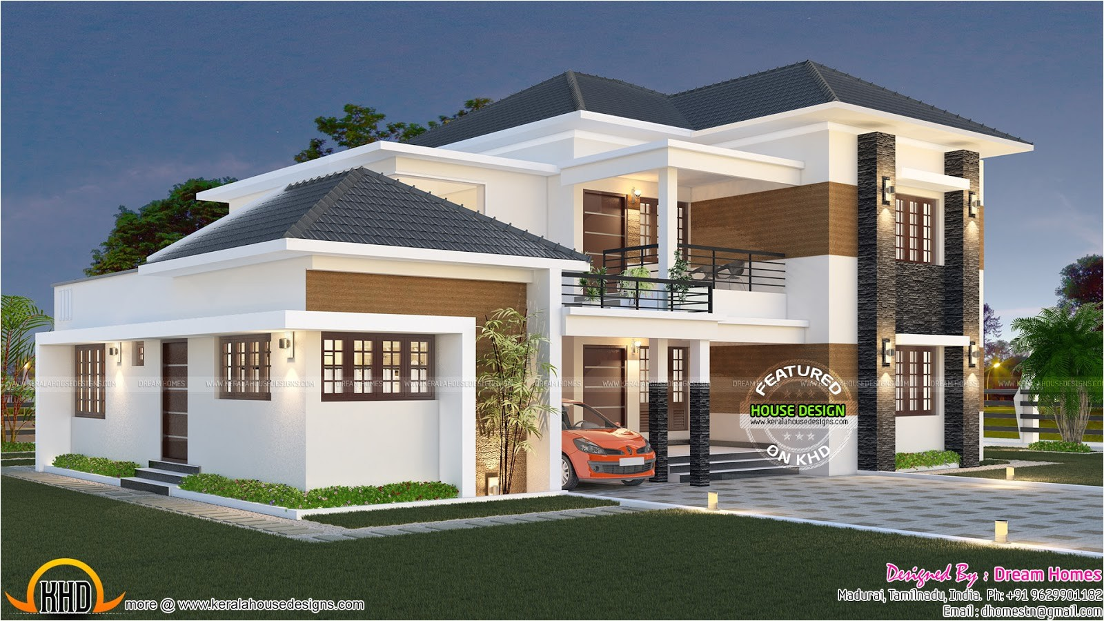 elegant south indian villa
