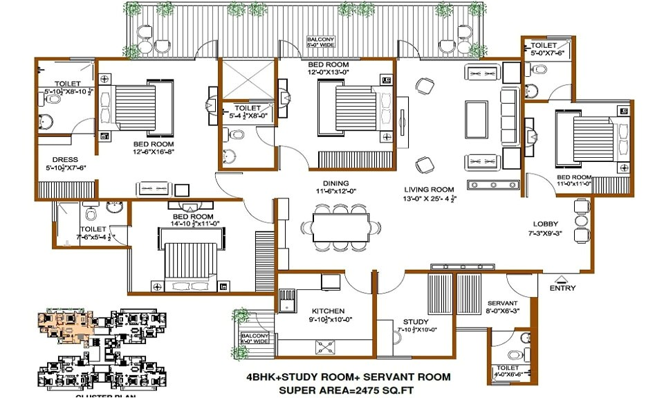 4000 sq ft house plans in india