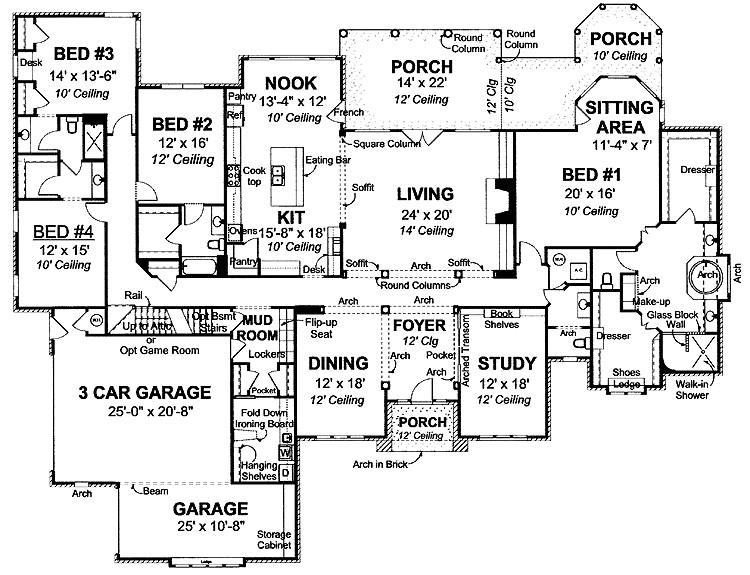 4000 square feet house plans