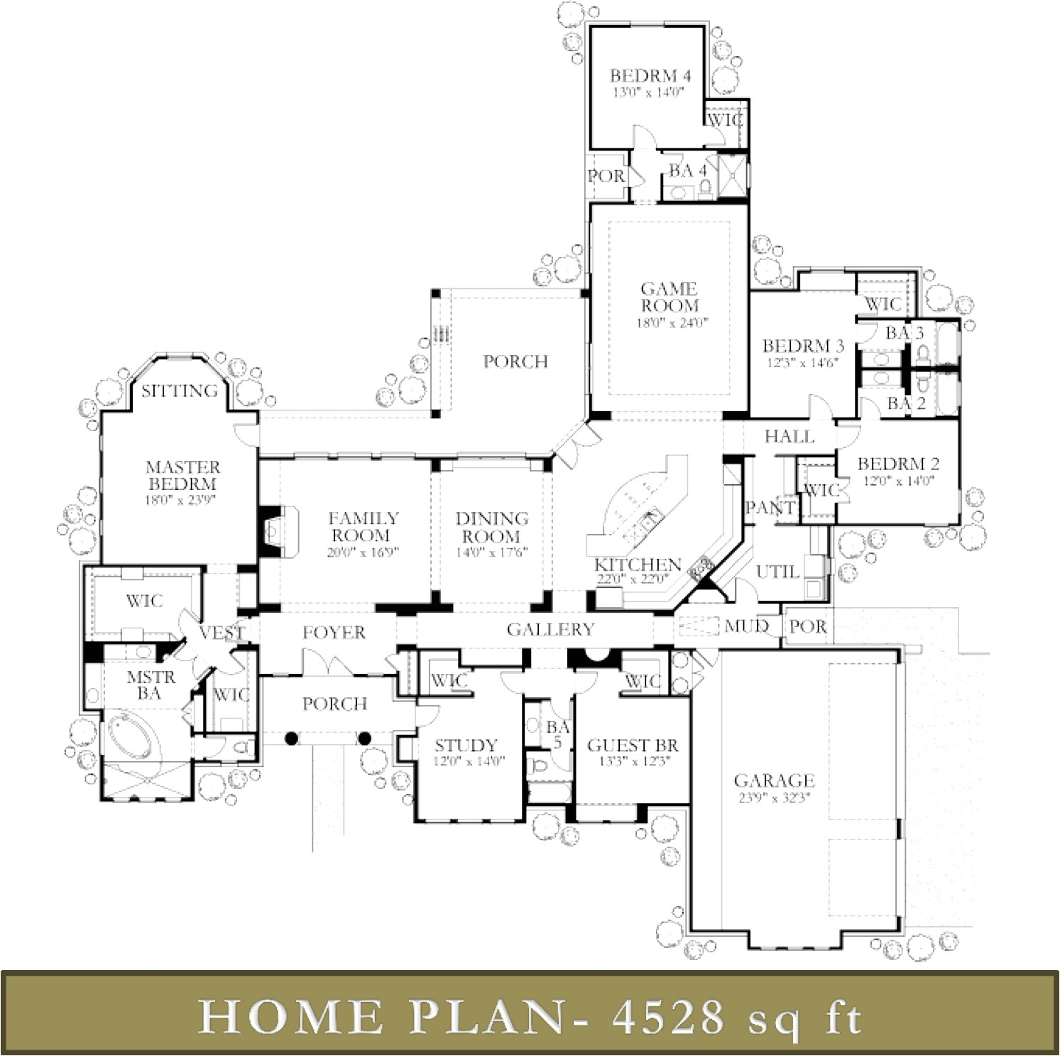 4000 square foot ranch house plans
