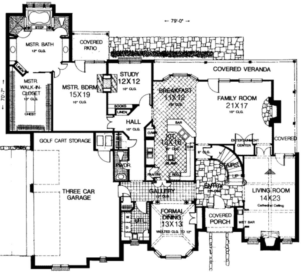 4000 square feet 5 bedrooms 3 5 bathroom luxury home plans 3 garage 19665