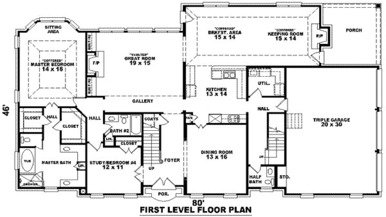 modern house plans 3000 to 3500 square feet