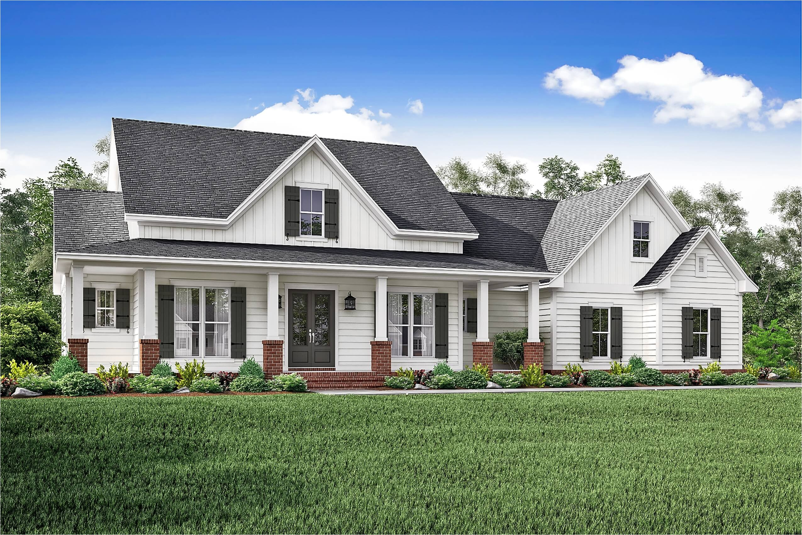 House Plans for Farmhouses 3 Bedrm 2466 Sq Ft Country House Plan 142 1166