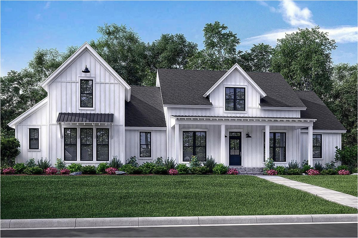 modern farmhouse plan 2742 square feet 4 bedrooms 3 5 bathrooms