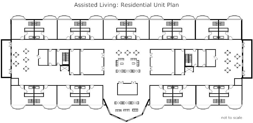 assisted living facility floor plans