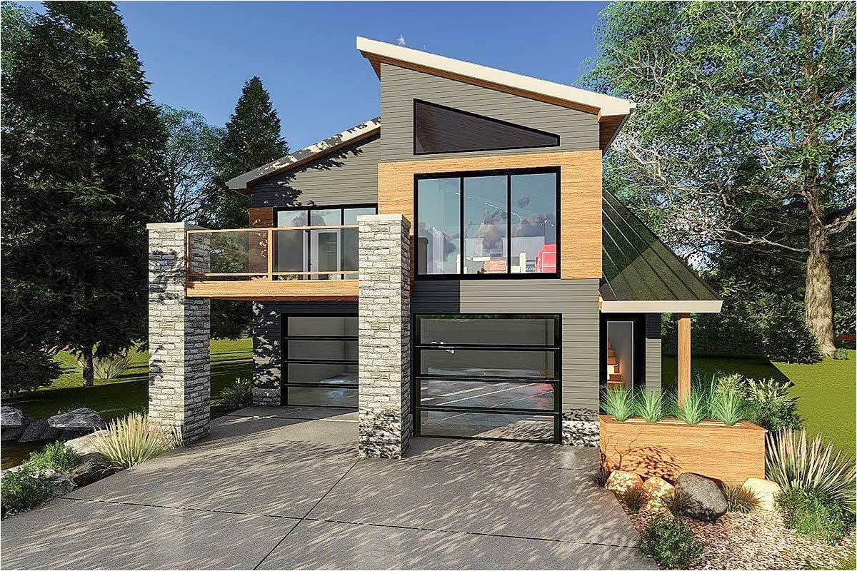 ultra modern tiny house plan 62695dj