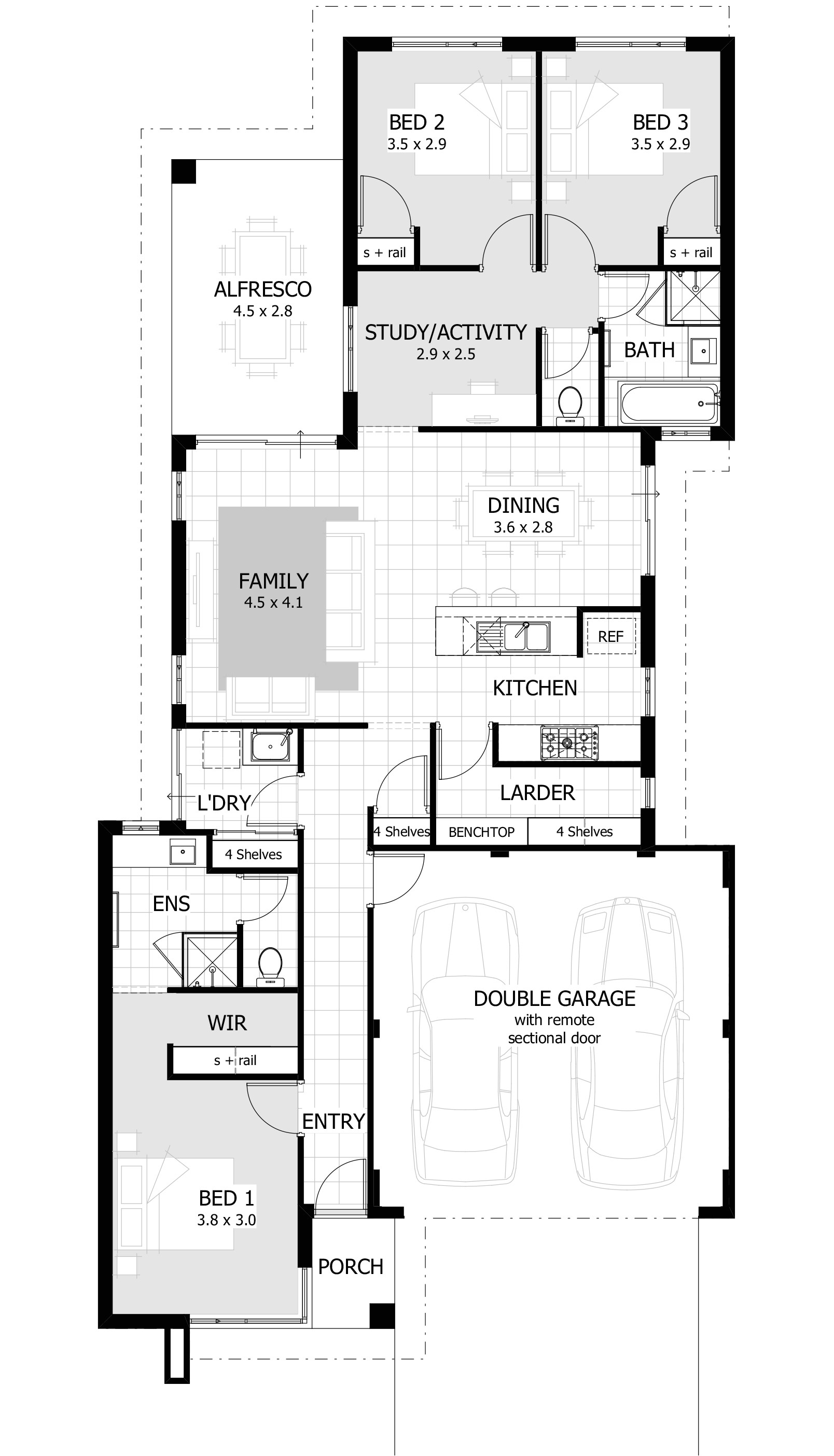 3 bedroom home designs plans