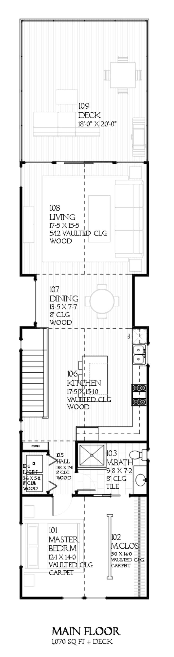 house plans for wide but shallow lots