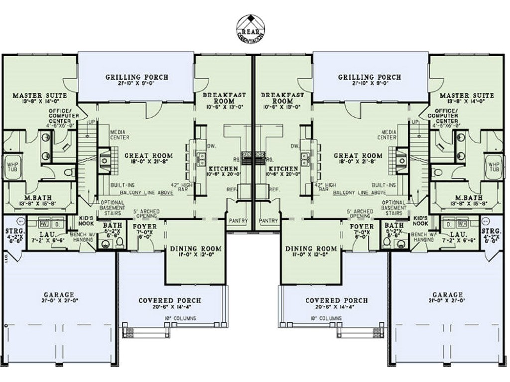5000 square feet 4 bedrooms 2 5 bathroom country house plans 2 garage 35852