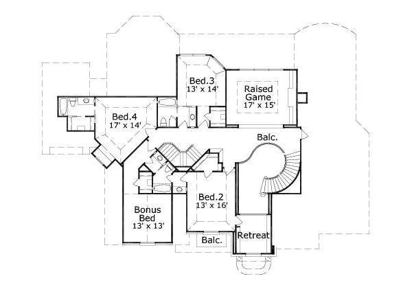 5000 square feet 5 bedrooms 4 5 bathroom european house plans 3 garage 27034
