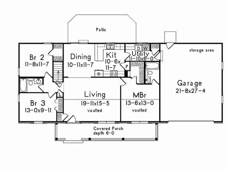 House Plans Rectangular Shape Nice Rectangle Shape Floor Plans Pinterest