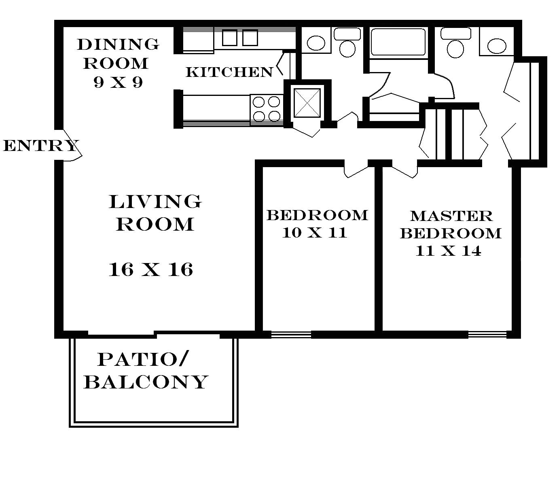 2 bedroom floor plans for 700 sq ft house