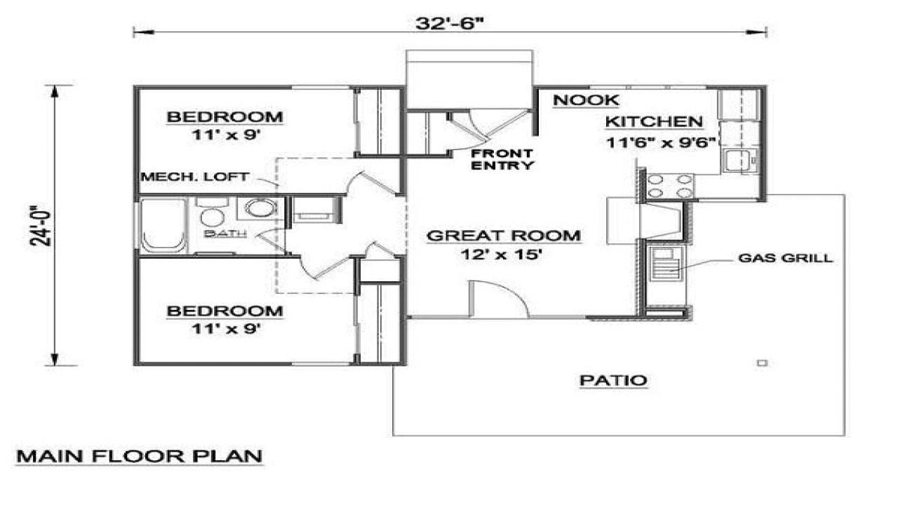 700 square feet apartment floor plan