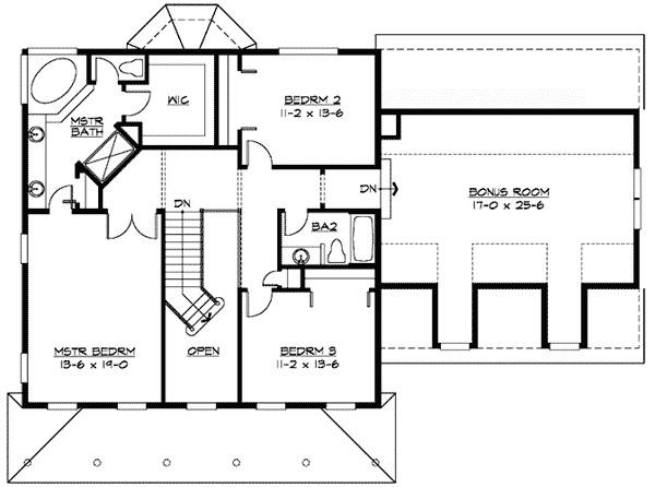 garage floor plans with bonus room