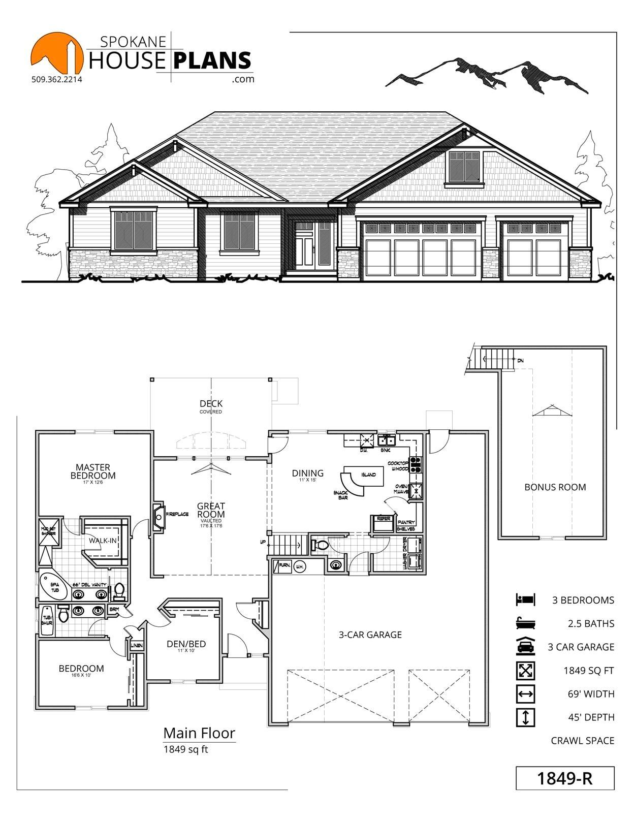 house plans 3 car garage