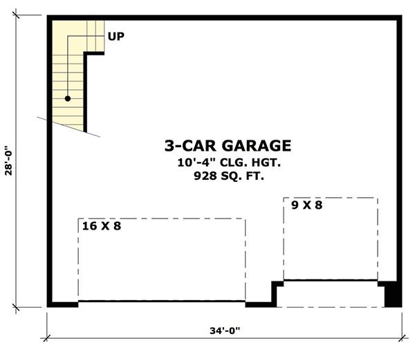 rugged garage with bonus room above 14630rk